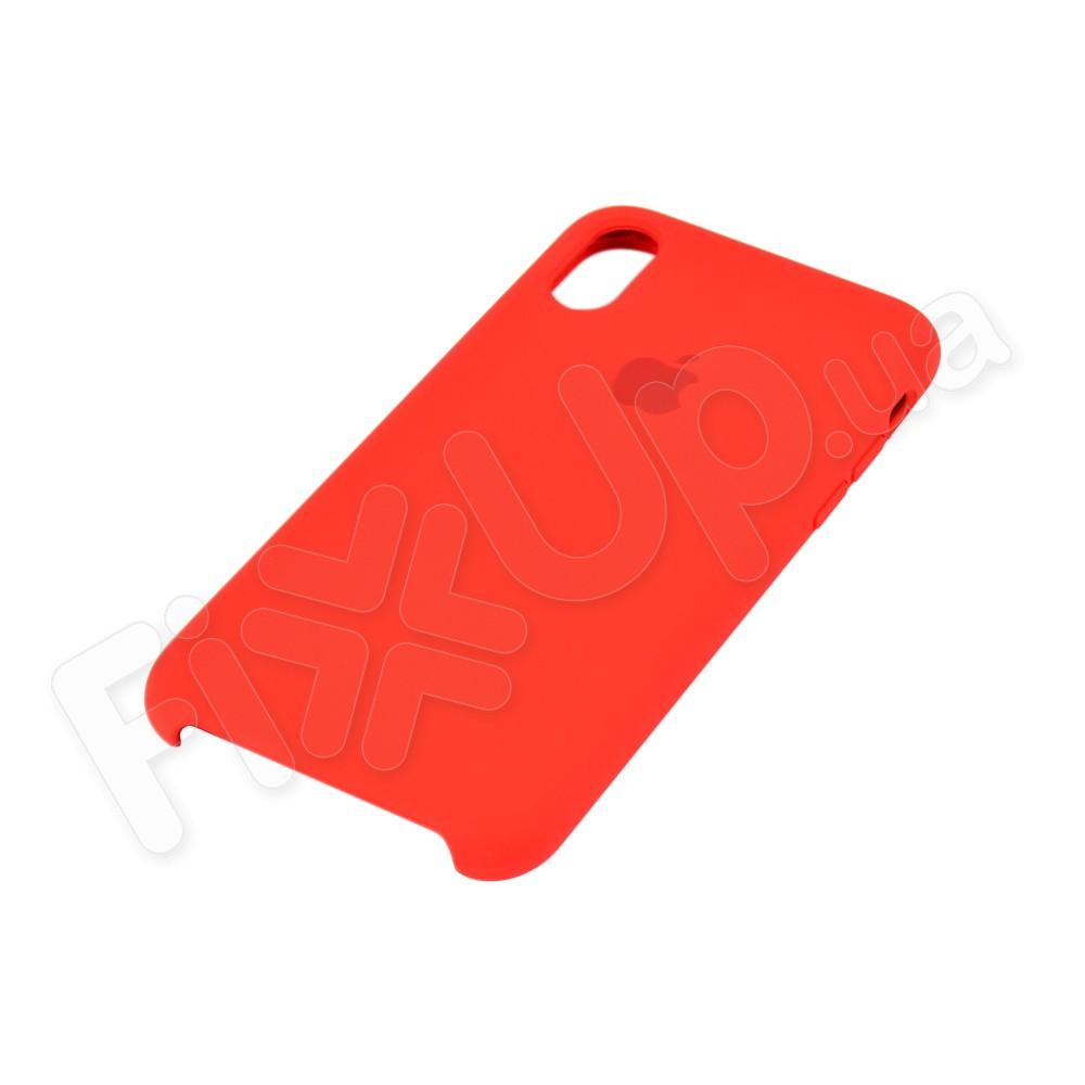 Силиконовый чехол для iPhone Xs (5.8), цвет красный фото 3