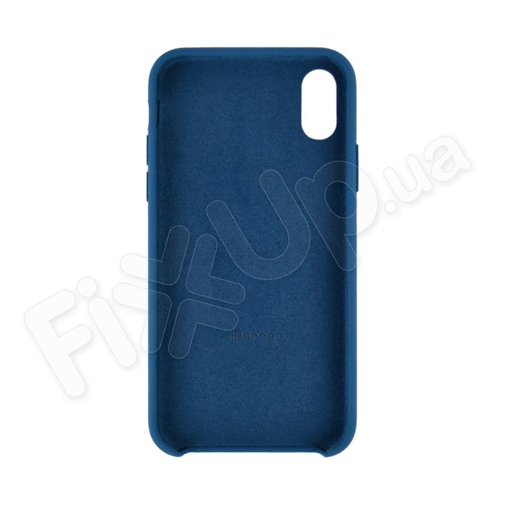 Силиконовый чехол для iPhone Xs (5.8), цвет ocean blue фото 1