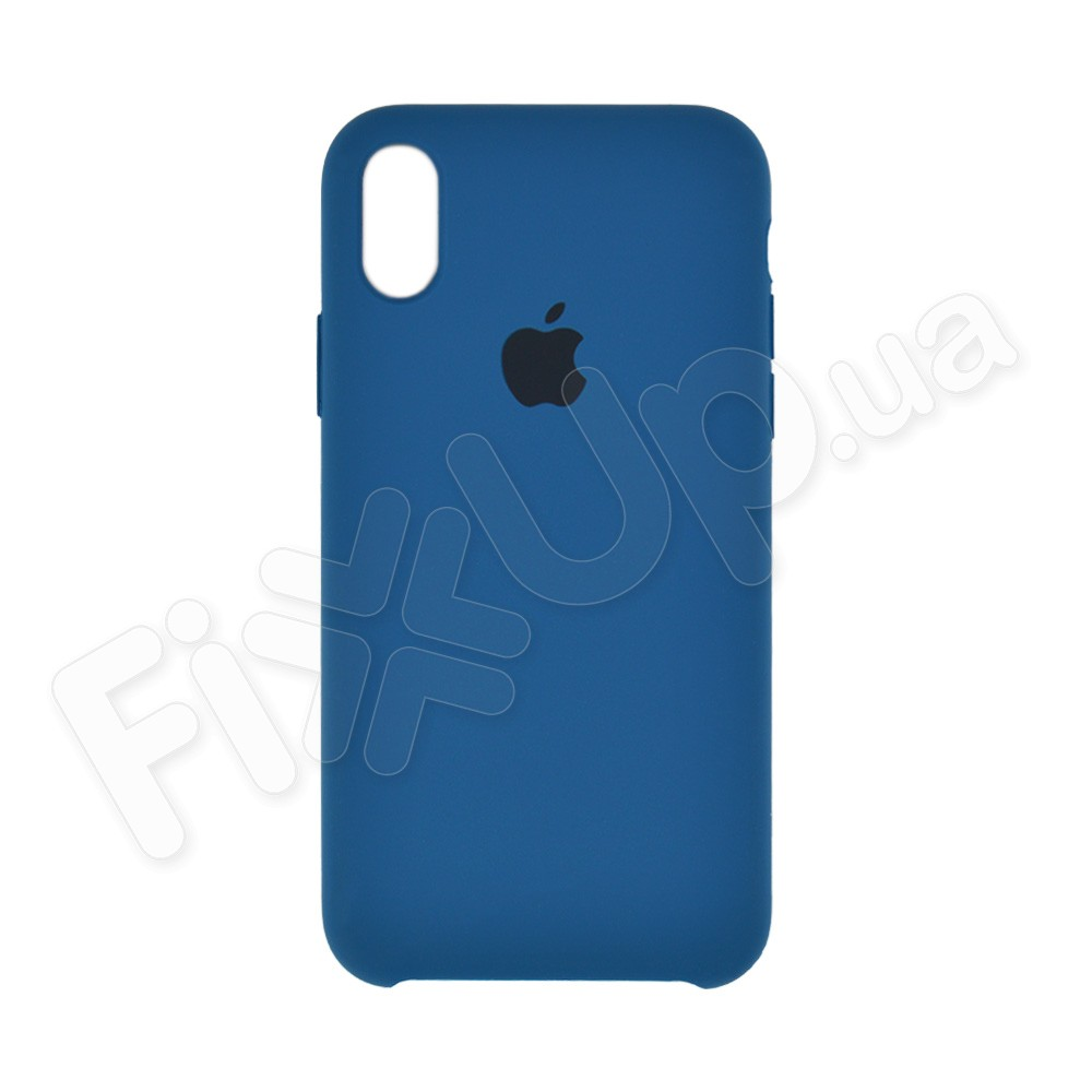 Силиконовый чехол для iPhone Xs (5.8), цвет ocean blue фото 2