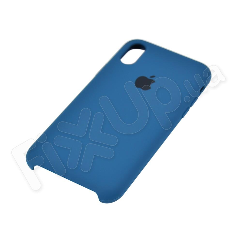 Силиконовый чехол для iPhone Xs (5.8), цвет ocean blue фото 3