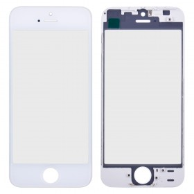 Стекло корпуса с рамкой и ОСА пленкой для iPhone 5S,  цвет white