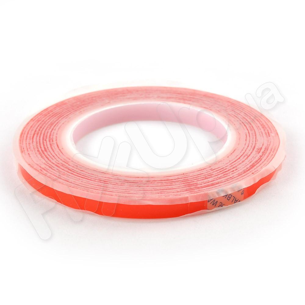 Двухсторонний скотч для приклеивания сенсоров (тачскринов), ширина 10 мм., красный фото 1