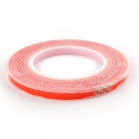 Двухсторонний скотч для приклеивания сенсоров (тачскринов), красный, 10 мм