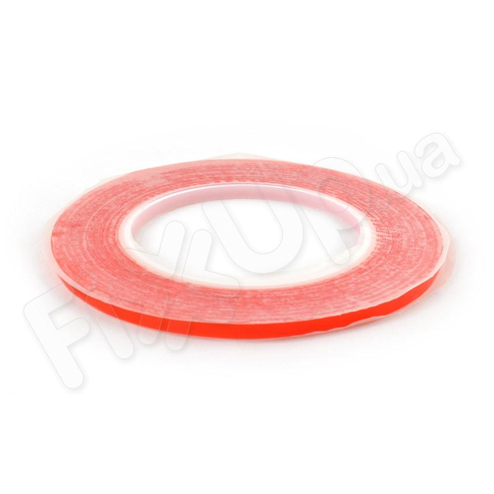 Двухсторонний скотч для приклеивания сенсоров (тачскринов), ширина 5 мм., красный фото 1