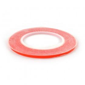 Двухсторонний скотч для приклеивания сенсоров (тачскринов), красный, 5 мм