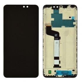 Дисплей для Xiaomi Redmi Note 6 Pro с тачскрином в сборе, оригинал, с рамкой,  цвет черный