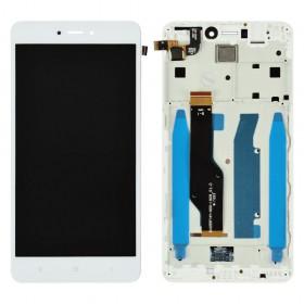 Дисплей для Xiaomi Redmi Note 4, Note 4X Snapdragon 625 с тачскрином в сборе,  цвет белый, оригинал, #bv055fhm-n00-1909_r1.0, с рамкой