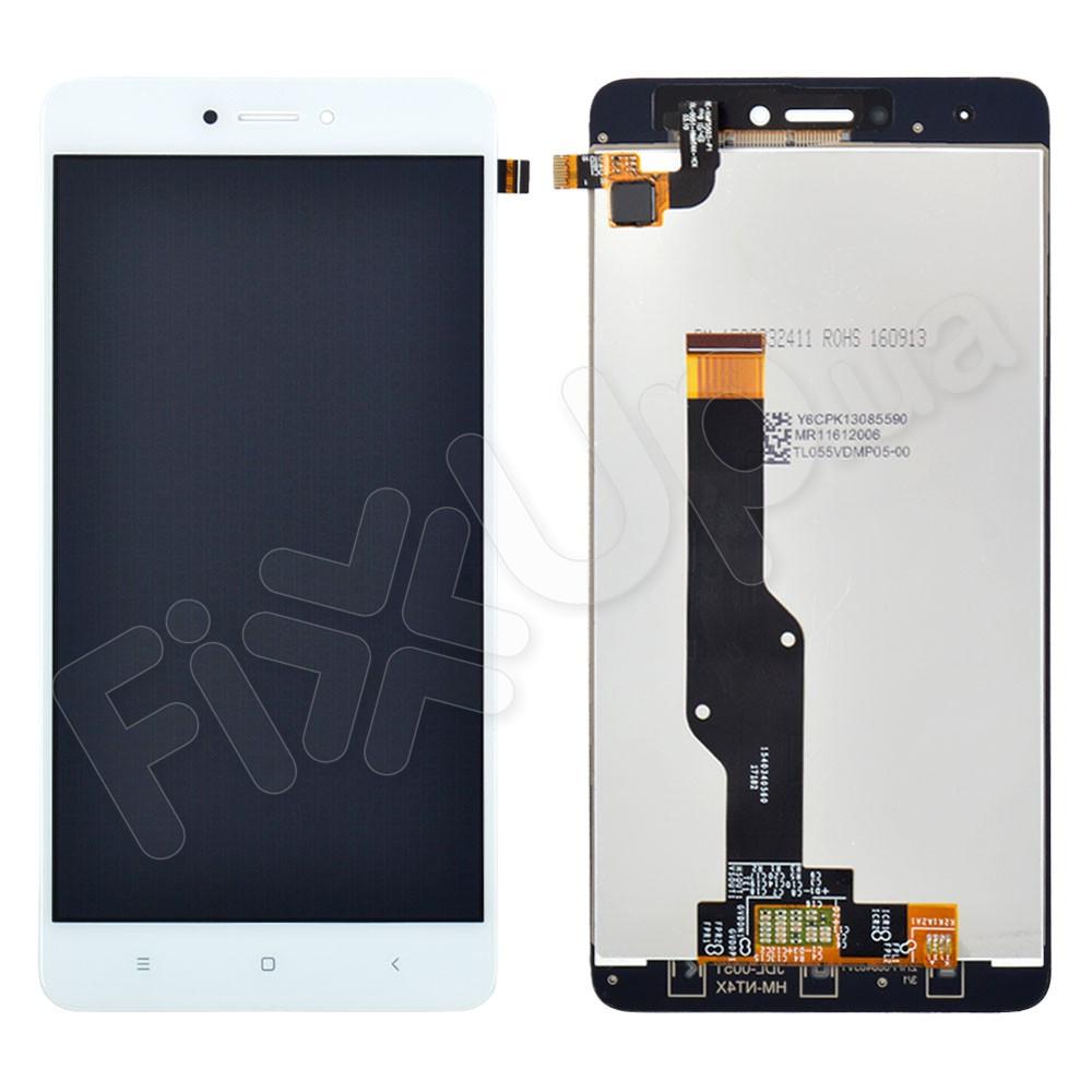 Дисплей Xiaomi Redmi NOTE 4X с тачскрином в сборе, цвет белый (TEST OK) фото 1