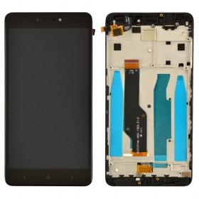 Дисплей для Xiaomi Redmi Note 4, Note 4X Snapdragon 625 с тачскрином в сборе, с рамкой, #bv055fhm-n00-1909_r1.0,  цвет черный, копия высокого качества