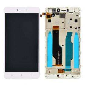 Дисплей для Xiaomi Redmi Note 4, Note 4X Snapdragon 625 с тачскрином в сборе, #bv055fhm-n00-1909_r1.0, копия высокого качества,  цвет белый, с рамкой