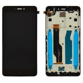 Дисплей для Xiaomi Redmi Note 4, Note 4X Snapdragon 625 с тачскрином в сборе, с рамкой, оригинал,  цвет черный, #bv055fhm-n00-1909_r1.0