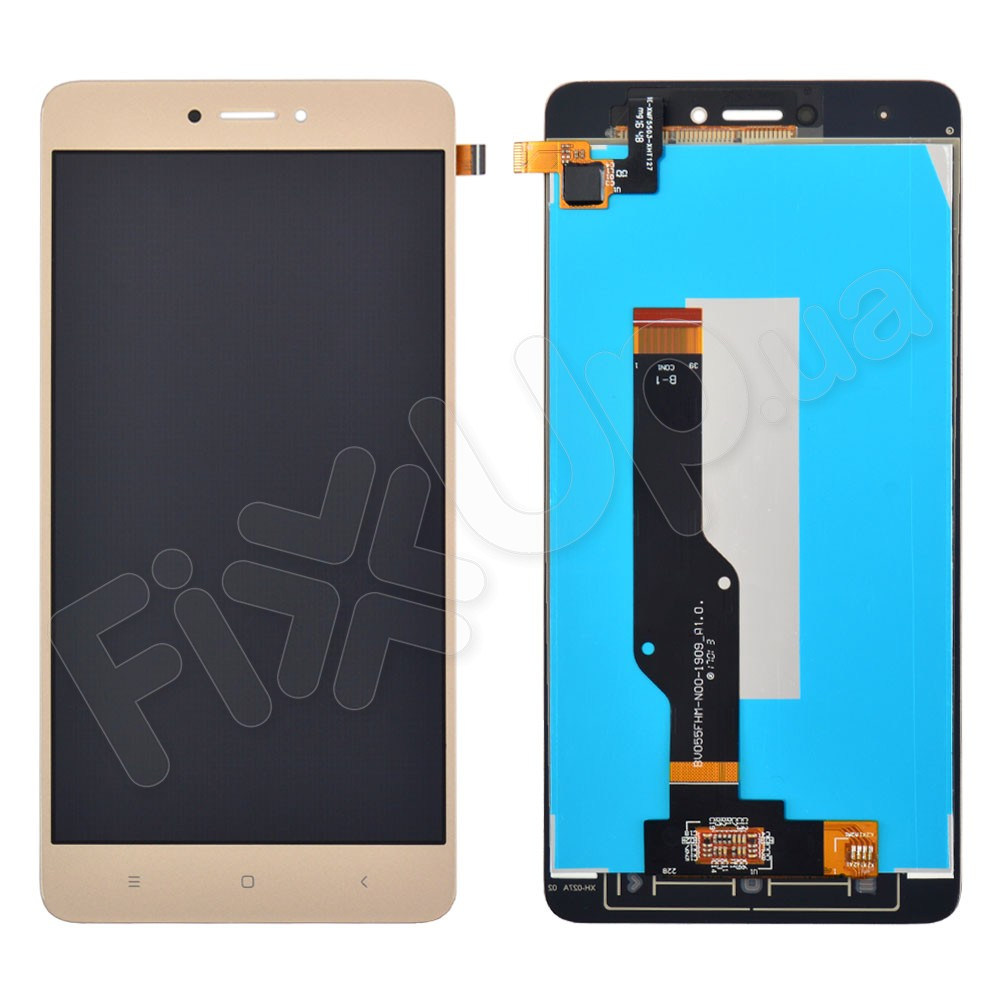 Дисплей для Xiaomi Redmi Note 4, 4X Snapdragon 625 с тачскрином в сборе, цвет золотой фото 1