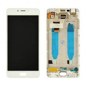 Дисплей Meizu M6 с тачскрином в сборе,  цвет белый, оригинал, с рамкой