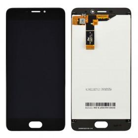 Дисплей Meizu M6 с тачскрином в сборе,  цвет черный, оригинал, без рамки