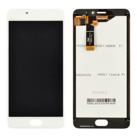 Дисплей Meizu M6 с тачскрином в сборе, копия высокого качества, без рамки,  цвет белый