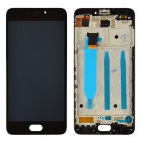 Дисплей Meizu M6 с тачскрином в сборе, с рамкой, оригинал,  цвет черный