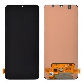 Дисплей для Samsung A705F Galaxy A70 (2019) с тачскрином в сборе, оригинал замененное стекло,  цвет черный, без рамки