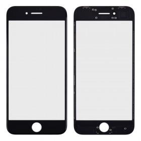 Стекло корпуса с рамкой и OCA пленкой для iPhone 8,  цвет black