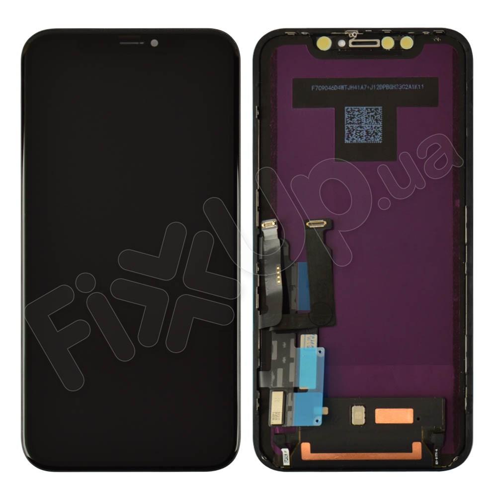 Дисплей для iPhone XR (6.1) с тачскрином в сборе, цвет черный, оригинал фото 1