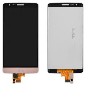 Дисплей LG D722 G3S, D724 с тачскрином в сборе,  цвет gold, без рамки