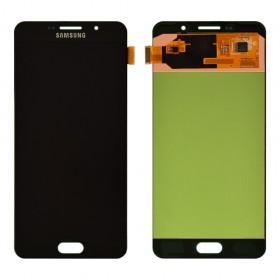 Дисплей Samsung A710F, DS Galaxy A7 с тачскрином в сборе,  цвет black, prc oled, без рамки