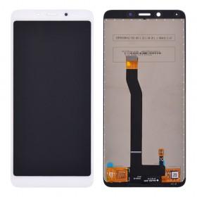 Дисплей для Xiaomi Redmi 6, Redmi 6A с тачскрином в сборе,  цвет белый, без рамки, копия