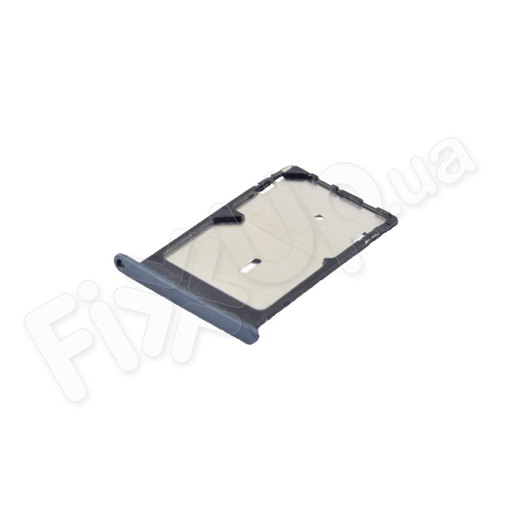 Лоток для сим карт Xiaomi Mi4c, Mi4i, цвет черный, 2 Sim фото 1
