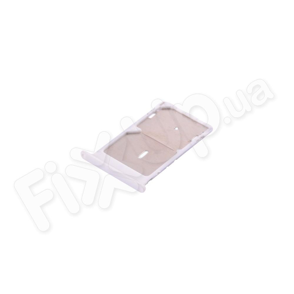 Держатель сим карты Xiaomi Mi4c, Mi4i, цвет белый, 2 Sim фото 1
