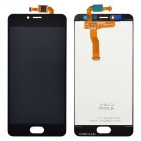 Дисплей Meizu M5C с тачскрином в сборе, копия, без рамки,  цвет черный