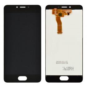 Дисплей Meizu M5C с тачскрином в сборе,  цвет черный, без рамки, оригинал