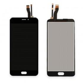 Дисплей Meizu M5 Note с тачскрином в сборе, копия, без рамки,  цвет черный