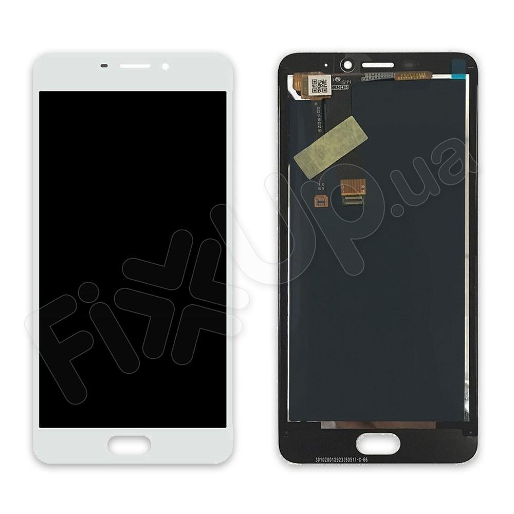 Дисплей Meizu M5 Note с тачскрином в сборе, цвет белый фото 1
