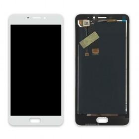 Дисплей Meizu M5 Note с тачскрином в сборе, копия,  цвет белый, без рамки