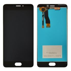 Дисплей Meizu M5 Note с тачскрином в сборе, без рамки,  цвет черный, оригинал