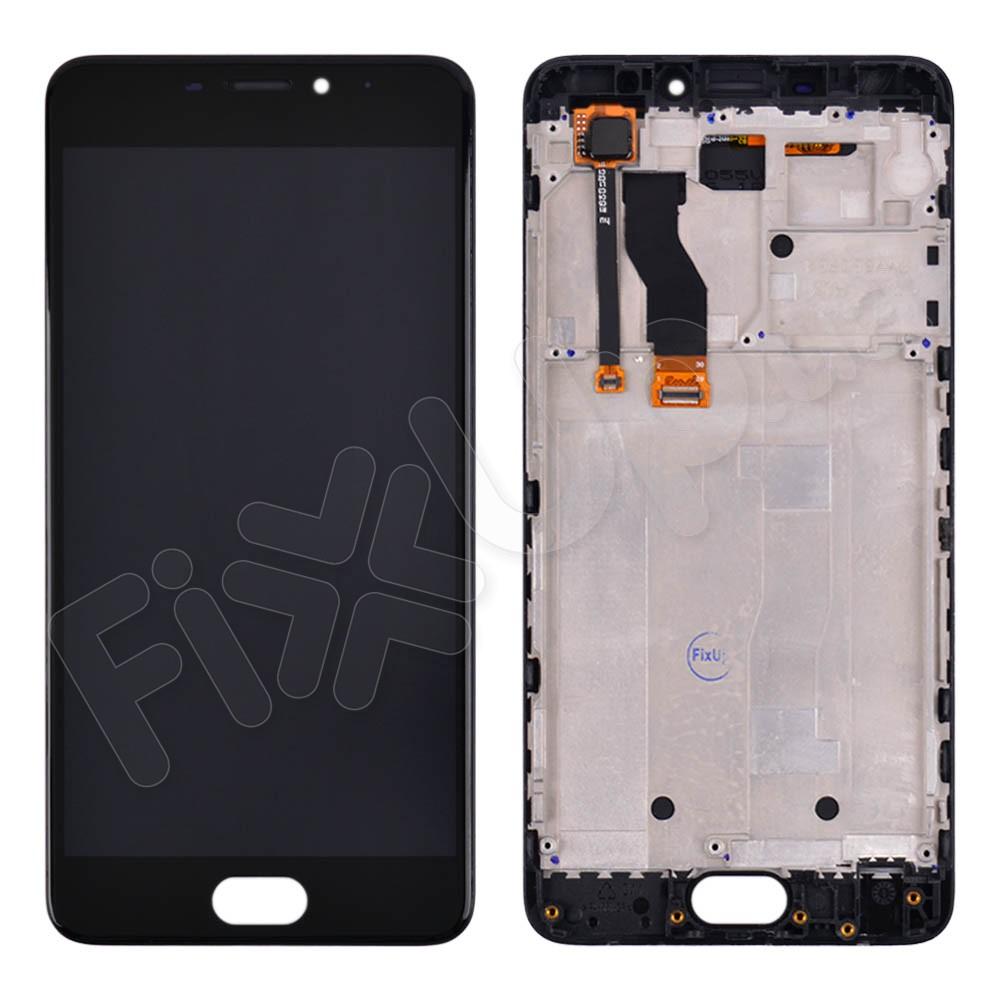 Дисплей для Meizu M5 Note с тачскрином и рамкой в сборе, цвет черный фото 1