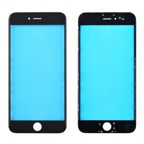 Стекло корпуса для iPhone 6 Plus (5.5), copy,  цвет black, с рамкой