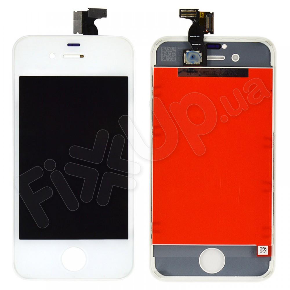 Дисплей iPhone 4S с тачскрином в сборе, цвет белый, копия высокого качества, TEST OK фото 1