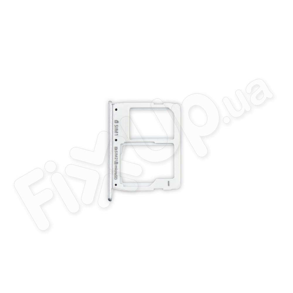 Лоток сим карты для Samsung A310, A510, A710, цвет серый, 2 sim фото 1