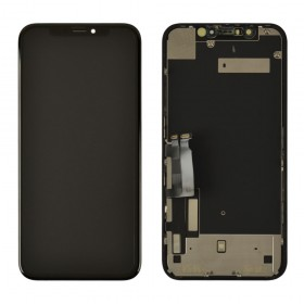 Дисплей для iPhone XR (6.1) с тачскрином в сборе, с разбора, original,  цвет black