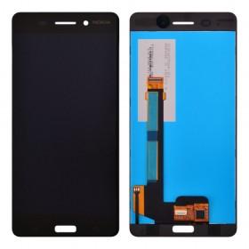 Дисплей Nokia 6 Dual Sim с тачскрином в сборе, copy, без рамки,  цвет black