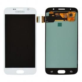 Дисплей для Samsung G920F Galaxy S6 (2015) с тачскрином в сборе, oled,  цвет белый, без рамки