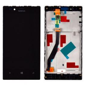 Дисплей Nokia 720 Lumia с тачскрином в сборе,  цвет black, с рамкой