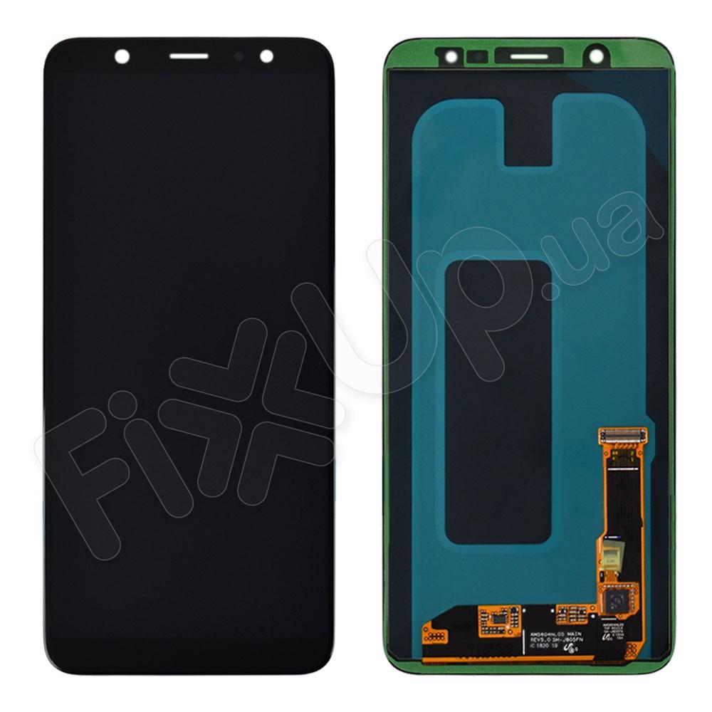 Дисплей для Samsung A605H/DS Galaxy A6 Plus (2018) с тачскрином в сборе, сервисный оригинал, цвет черный фото 1