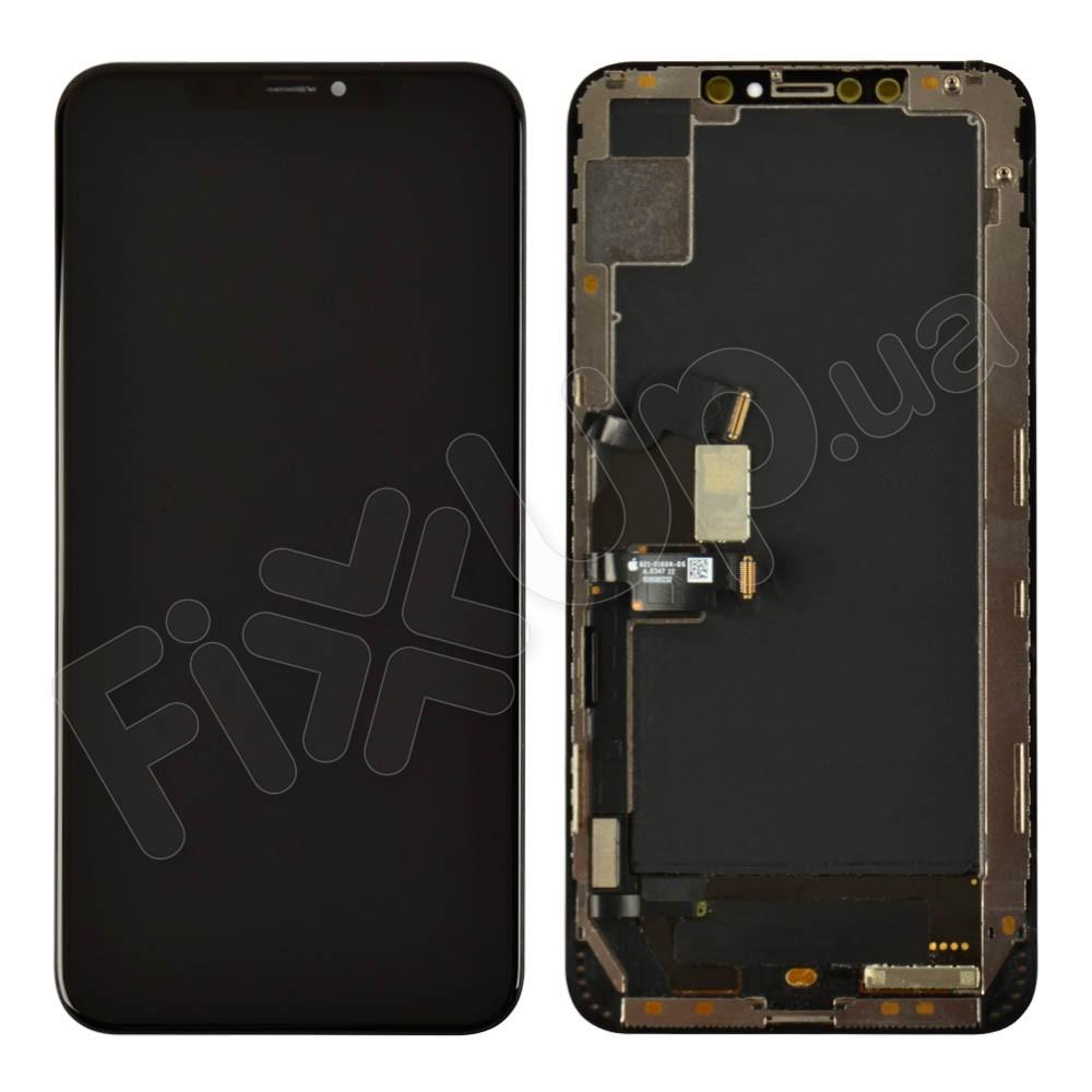 Дисплей для iPhone XS Max (6.5) с тачскрином в сборе, цвет черный, Original change glass фото 1