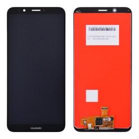 Дисплей для Huawei Y7 Prime (2018)/Nova 2 Lite с тачскрином в сборе, копия, без рамки,  цвет черный